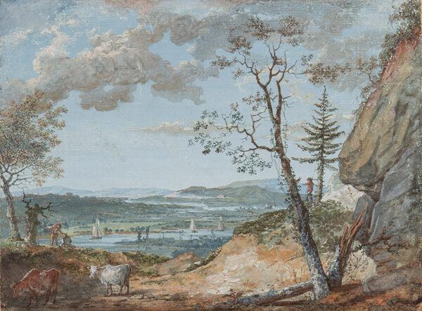 LAPORTE John (1761-1839) - Distant river landscape.