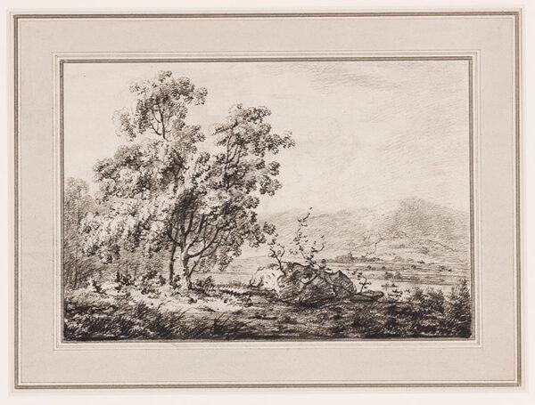 LAPORTE John (1761-1839) - Landscape.
