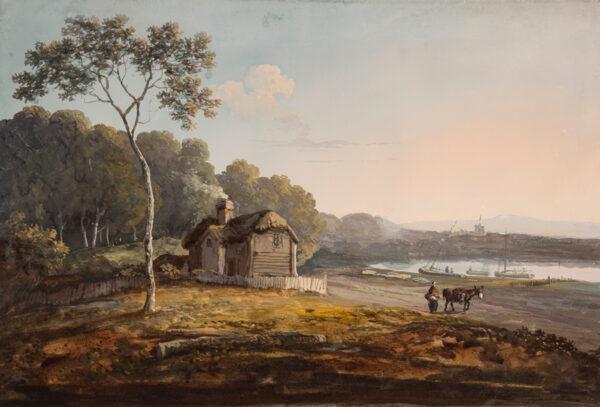 LAPORTE John (1761-1839) - Cottage by an estuary.