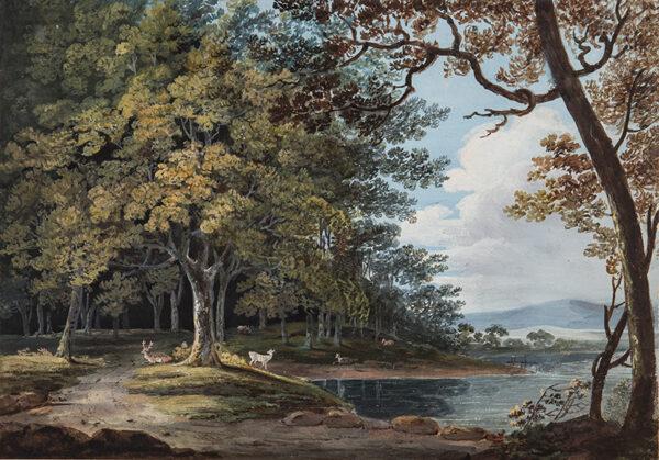 LAPORTE John (1761-1838) (Attributed to) - Deer watering.