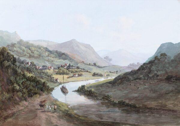 LAPORTE John (1761-1839) - Capriccio: Valley and river.