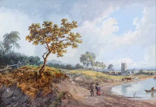 LAPORTE John (1761-1839) - Capriccio: river landscape.