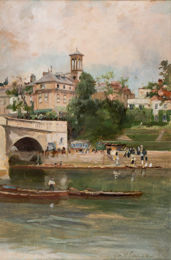 LAUDER Charles James R.S.W. (1841-1920) - Richmond Bridge.