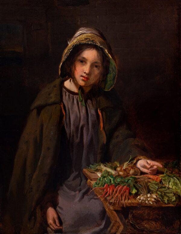 LE JEUNE Henry A.R.A. (1819-1904) - A Market Girl.