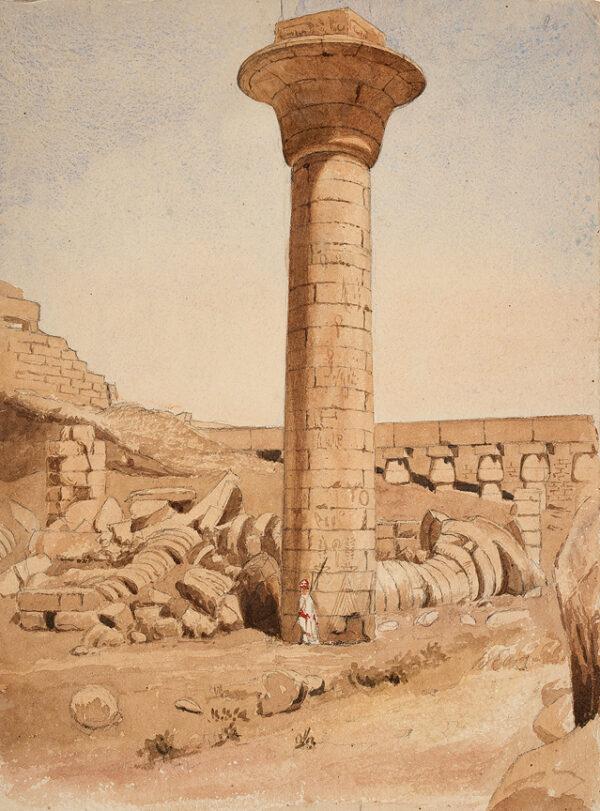 LE STRANGE Henry L'Estrange Styleman (1815-1862) - Egypt: 'Karnak' Pencil and watercolour.
