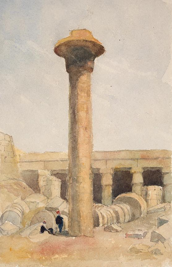 LE STRANGE Henry L'Estrange Styleman (1815-1862) - Egypt: 'Karnak'.