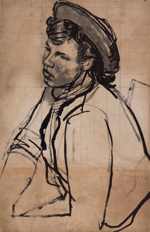 LE BAS Edward R.A. (1904-1966) - Study for 'Saloon Bar' (Oil on canvas, Tate Britain).