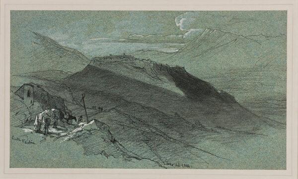 LEAR Edward (1812-1888) - Abruzzo: 'Civita d'Antino'.