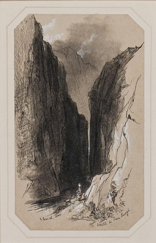 LEAR Edward (1812-1888) - Abruzzo: 'Stretti di San Luigi'.