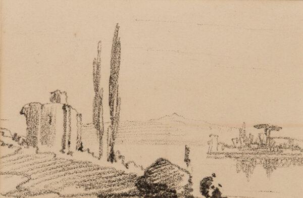 LEAR Edward (1812-1888) - Italian capriccio.