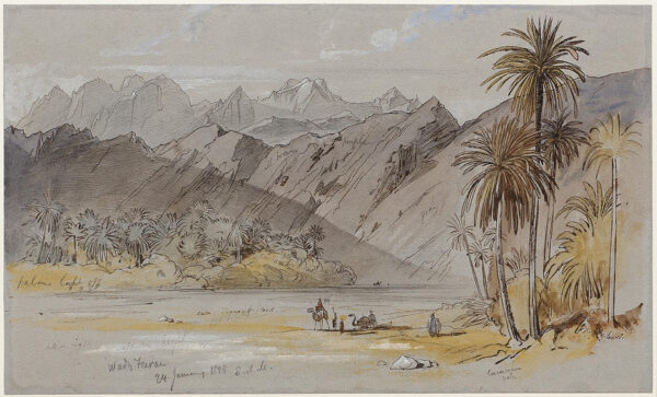 LEAR Edward (1812-1888) - 'Wady Feiran', Sinai Peninsula.