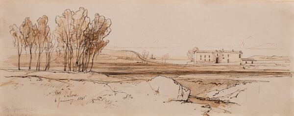 LEAR Edward (1812-1888) - 'Salone', near the Aniene river, Lazio.