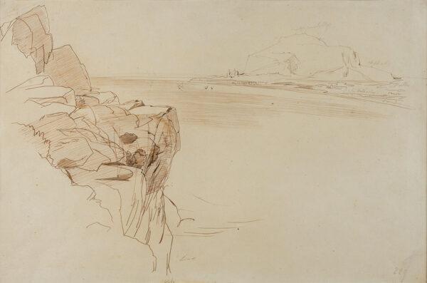 LEAR Edward (1812-1888) - Cefalu from Bagheria, Sicily.