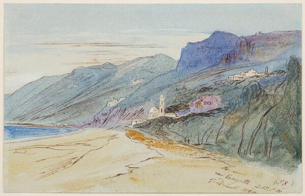 LEAR Edward (1812-1888) - 'Near Varigotti', Liguria.