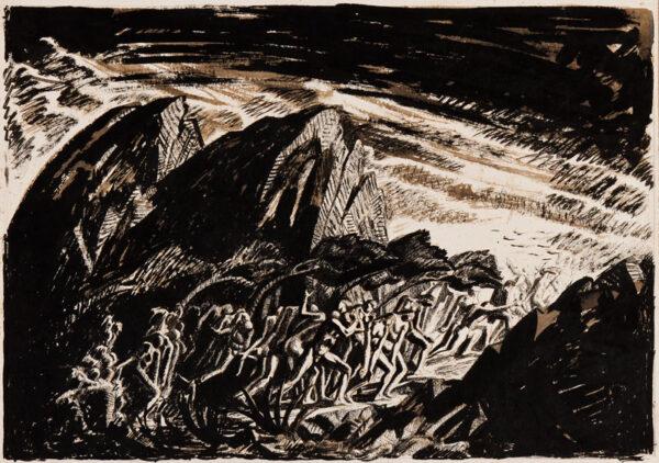 LEDWARD Gilbert (1888-1960) - The Deluge.