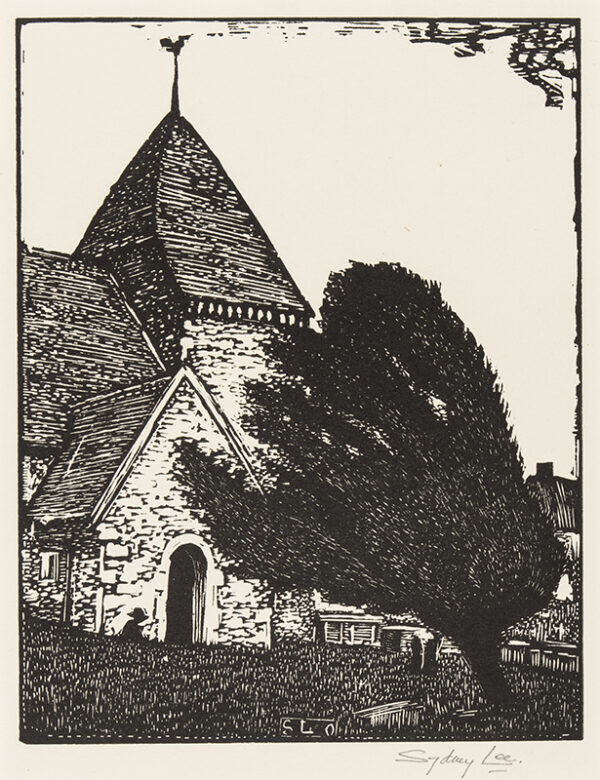 LEE Sydney R.A. S.W.E. (1866-1949) - 'A Sussex Church' (RM.
