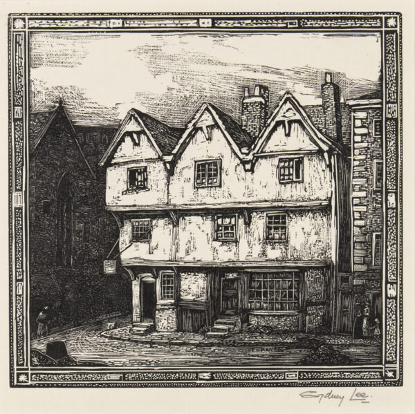 LEE Sydney R.A. S.W.E. (1866-1949) - 'Three Gables, Market Square, Lincoln' (RM.