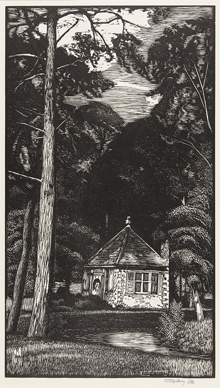 LEE Sydney R.A. S.W.E. (1866-1949) - 'The House in the Wood (Isaak Walton's Fishing Lodge)' (RM.