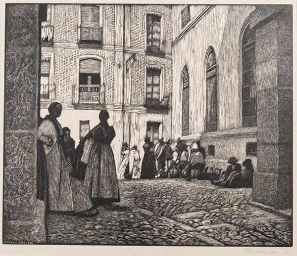 LEE Sydney R.A. (1866-1949) - Spanish courtyard (RM.