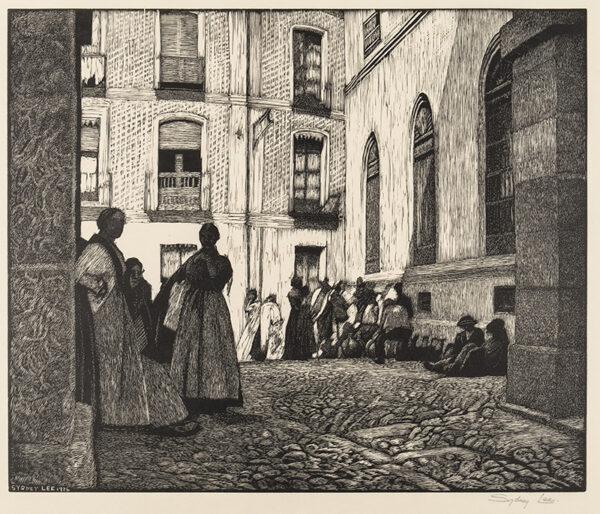 LEE Sydney R.A. S.W.E. (1866-1949) - ) 'Spanish Courtyard' (RM.