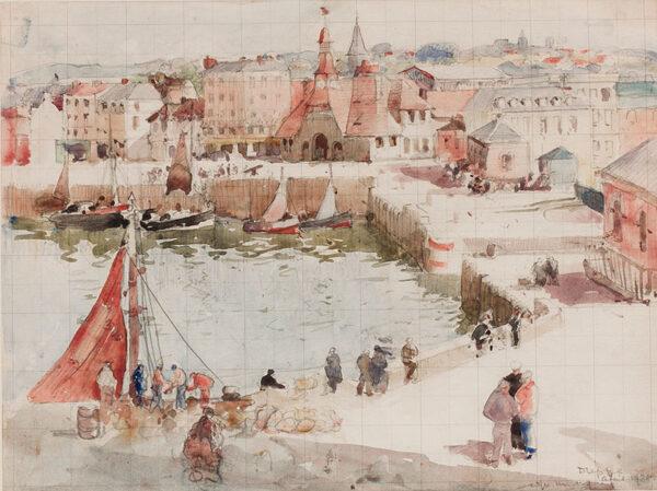 LEE HANKEY William R.W.S. R.E. (1869-1952) - 'Dieppe'.