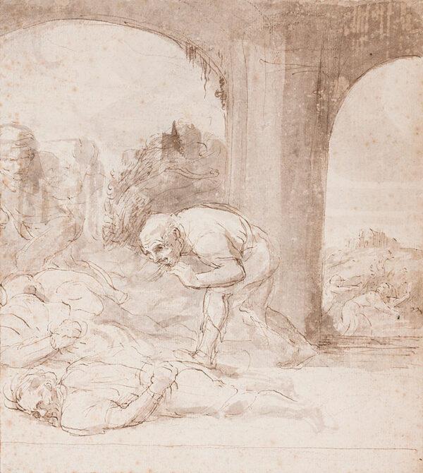 LEGROS Alphonse (1837-1911) - 'Victimes d'un combat'.