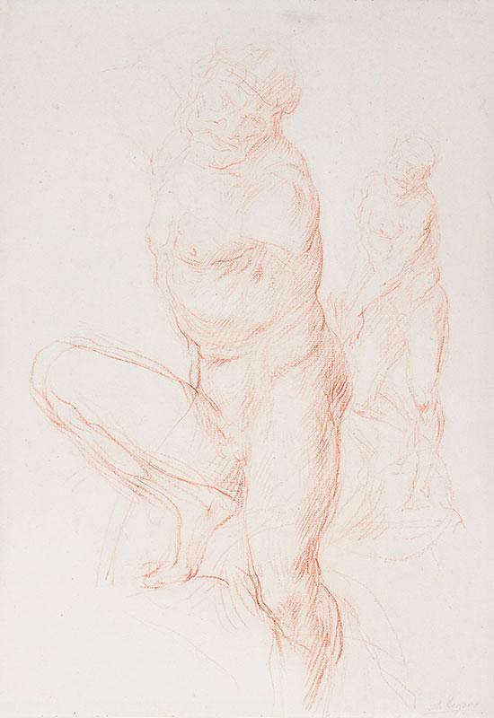 LEGROS Alphonse (1837-1911) - Studies for a Statue.