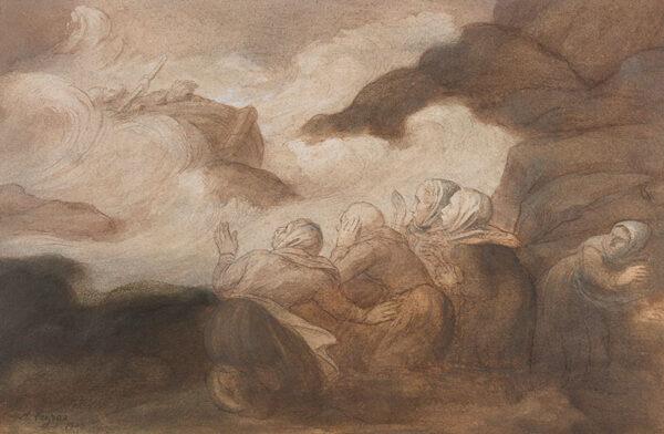 LEGROS Alphonse (1837-1911) - La Barque en peril.