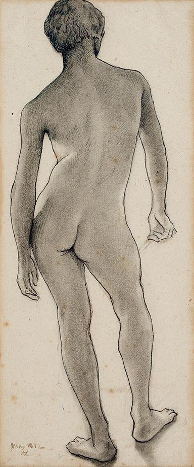 LEHMANN Henri (1814-1882) - A standing man.