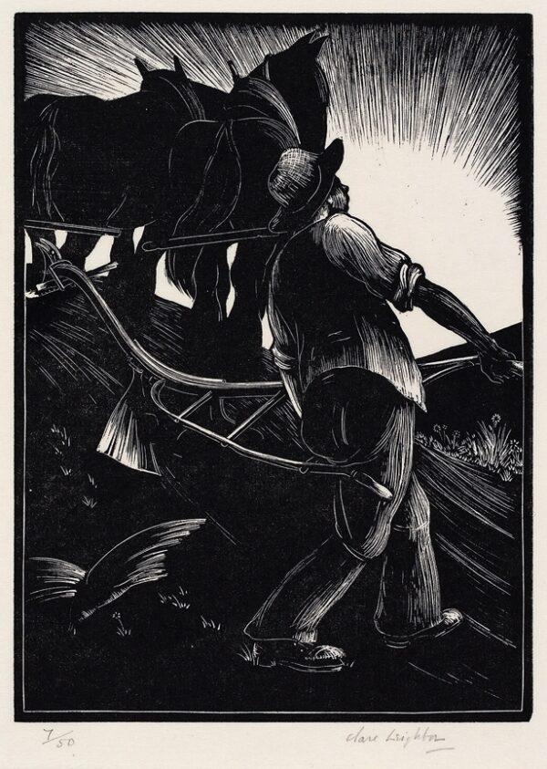 LEIGHTON Clare (1898-1989) - 'The Ploughman'.