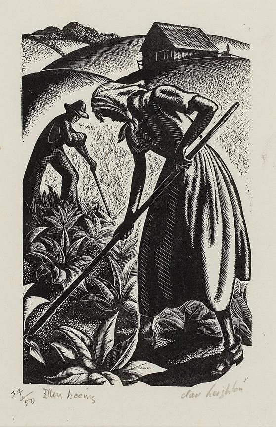 LEIGHTON Clare (1898-1989) - 'Ellen hoeing'.