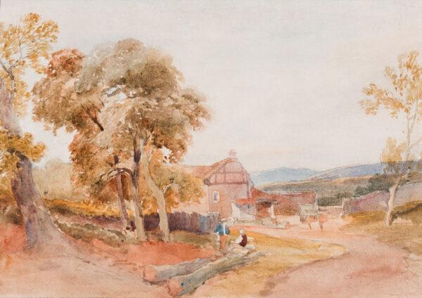 LEITCH William Leighton (1804-1883) - The approach to a farmhouse.