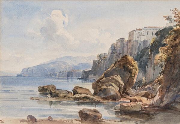 LEITCH William Leighton R.I. (1804-1883) - Tasso's House, Sorrento.
