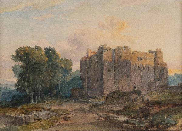 LEITCH William Leighton R.I. (1804-1883) - Castle at sunset.