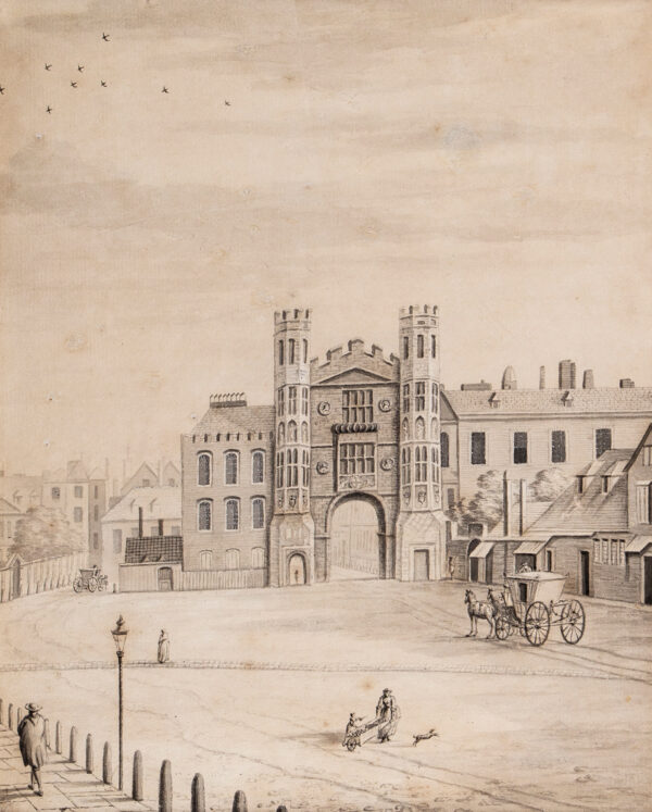 LENS III Bernard (1682-1740) (Attributed to) - The Holbein Gate, Whitehall, demolished 1759.