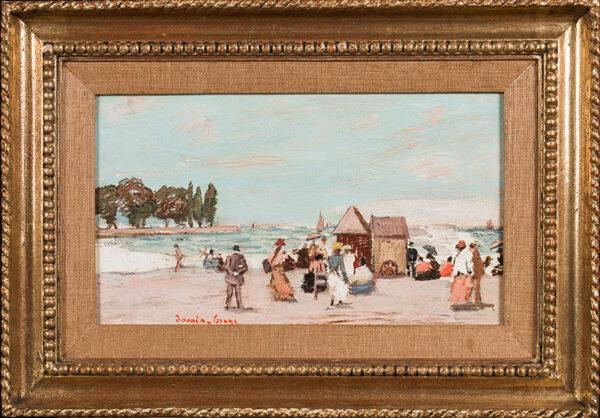 LESAGE Davain (b.1908) - Sur la plage.