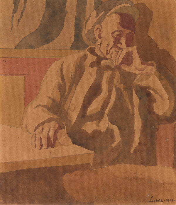 LESSORE Therese (1888-1945) - The Thinker.