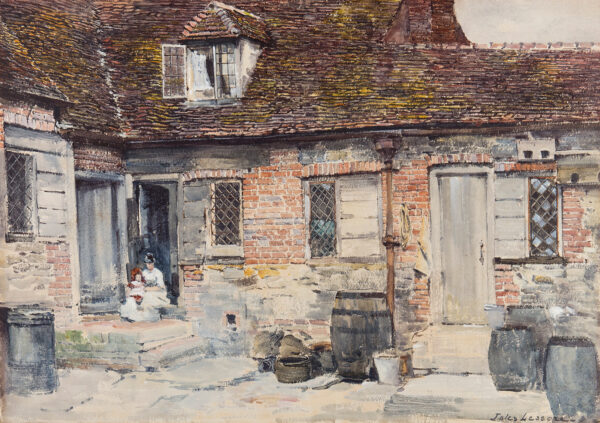 LESSORE Jules (1849-1892) - The courtyard.