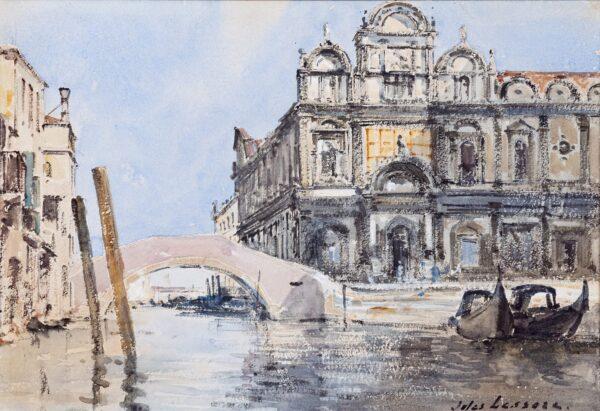 LESSORE Jules (1849-1892) - Venice: the Scuola Grande di San Marco and Ponte del Cavallo.