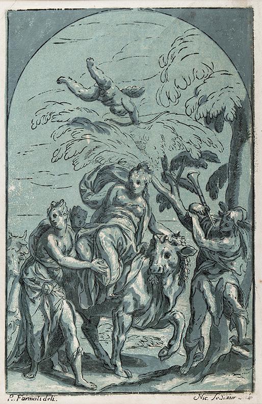 LE SUEUR Nicolas (1691-1764) after Paolo FARINATI (1524-1606) - 'The Rape of Europa' (Le Blanc 20).