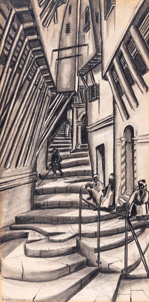 LETT-HAINES Arthur (1894-1978) - Moroccan Street.