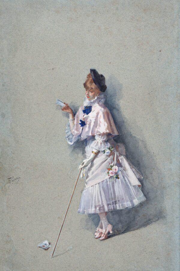 LINDER Philippe Jacques (1835-1914) - A billet doux.