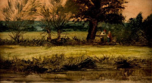 LINNELL John (1792-1882) - Conversation by a stream.