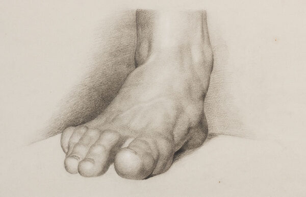 LINNELL William (1826-1896) - Study of a foot, from the Antique.