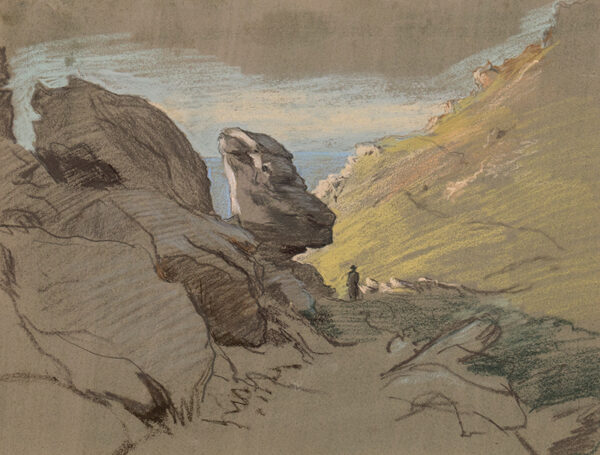 LINNELL William (1826-1906) - Mountain Pass, North Wales.