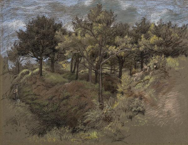 LINNELL James Thomas (1820-1905) - Study of Woodland.