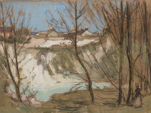 LIVENS Horace Mann (1862-1936) - Town above a Quarry.