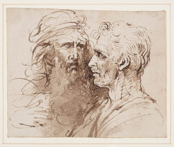 LOCK William, the Younger (1767-1847) - Studies of two Heads.