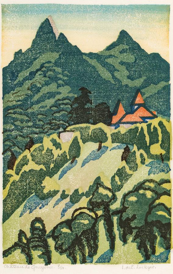 LOCKYER Isabel de Bohun (Exh: 1925-1938) - 'Chateau de Gruyeres.