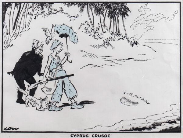 LOW Sir David (1891-1963) - 'Cyprus Crusoe'.